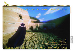 Carry-all Pouch featuring the photograph Fabbriche Di Vagli Paese Fantasma Ghost Town 3 by Enrico Pelos
