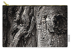 Face In A Tree Carry-all Pouch by JoAnn Lense