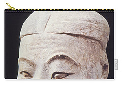 Carry-all Pouch featuring the photograph Face Of A Terracotta Warrior by Heiko Koehrer-Wagner