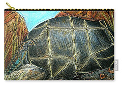 Face Off At The Waterhole Carry-all Pouch