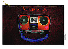 Face The Music Carry-all Pouch by Shannon Staskin