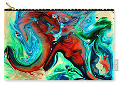 Carry-all Pouch featuring the painting Face To Face by Joyce Dickens
