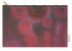 Carry-all Pouch featuring the painting Facing The Chaos World by Min Zou