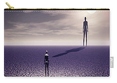 Carry-all Pouch featuring the digital art Facing The Future by John Alexander