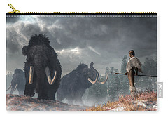 Facing The Mammoths Carry-all Pouch by Daniel Eskridge