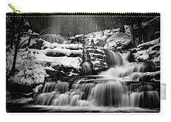 Carry-all Pouch featuring the photograph Factory Falls In Winter by Chris Lord