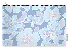 Faded Blue Spotted Orchids Carry-all Pouch
