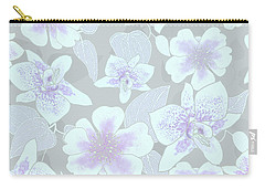 Faded Gray Spotted Orchids Carry-all Pouch