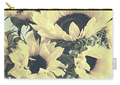 Faded Sunflowers Carry-all Pouch