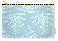 Faded Teal Fern Array Carry-all Pouch