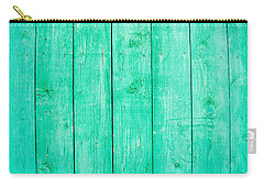 Fading Aqua Paint On Wood Carry-all Pouch by John Williams