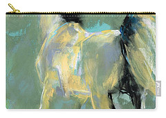 Carry-all Pouch featuring the pastel Fading Out To Three by Frances Marino