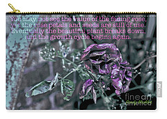 Fading Rose Carry-all Pouch by Sandy Moulder