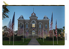 Fairbury Nebraska Avenue Of Flags - September 11 2016 Carry-all Pouch by Art Whitton