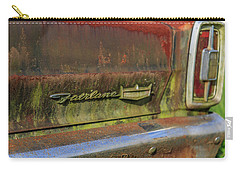 Carry-all Pouch featuring the photograph Fairlane Emblem by Doug Camara