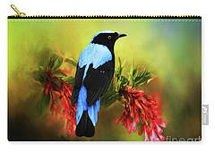 Fairy Bluebird Carry-all Pouch by Suzanne Handel