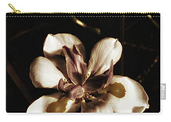 Carry-all Pouch featuring the photograph Fairy Iris. A Butterfly Landed On My by Mr Photojimsf