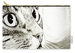 Fairy Light Tabby Cat Drawing Carry-all Pouch