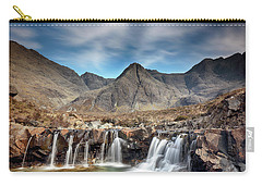 Carry-all Pouch featuring the photograph Fairy Pools - Isle Of Skye by Grant Glendinning