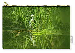 Carry-all Pouch featuring the photograph Fairy Tale Heron #g5 by Leif Sohlman