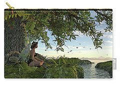 Fairy Under The Tree Of Life Carry-all Pouch