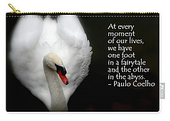 Carry-all Pouch featuring the photograph Fairytale Swan by Lainie Wrightson