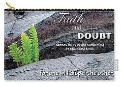Faith And  Doubt Carry-all Pouch by Denise Bird