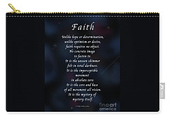 Carry-all Pouch featuring the photograph Faith by Felipe Adan Lerma
