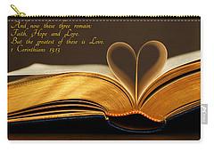 Faith. Hope. Love. Carry-all Pouch by Iryna Goodall