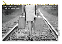 Carry-all Pouch featuring the photograph Faith In Your Journey by Barbara West