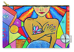 Faith, She Carries The World On Her Hips Carry-all Pouch by Jeremy Aiyadurai