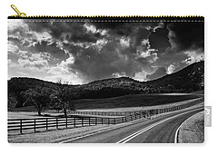 Fall Along Joe Brown Highway In Black And White Carry-all Pouch