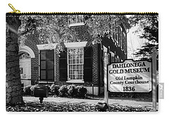Fall At The Gold Museum In Black And White Carry-all Pouch