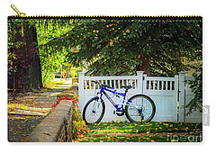 Carry-all Pouch featuring the photograph Fall Bicycle Of Laramie by Craig J Satterlee