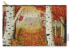 Fall Birch Trees Carry-all Pouch by Susan Schmitz