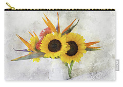 Carry-all Pouch featuring the digital art Fall Bouquet by Sue Collura