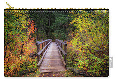Carry-all Pouch featuring the photograph Fall Bridge by Cat Connor