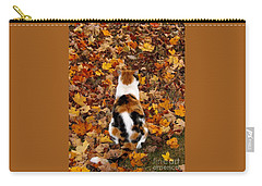 Fall Catitude  Carry-all Pouch by Christy Ricafrente