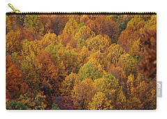 Carry-all Pouch featuring the photograph Fall Cluster by Eric Liller