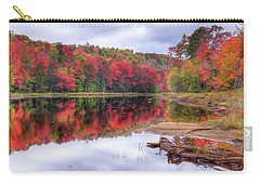 Carry-all Pouch featuring the photograph Fall Color At The Pond by David Patterson