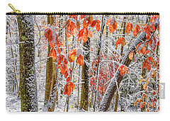 Fall Color Autumn Snow Carry-all Pouch