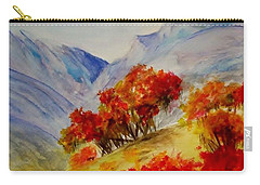 Carry-all Pouch featuring the painting Fall Color by Jamie Frier