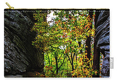 Fall Color Lights Up The Trail Carry-all Pouch by Barbara Bowen