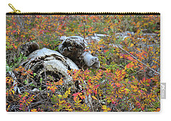 Fall Color On The Beach Carry-all Pouch by Ronda Broatch
