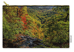 Fall Colors From The Top Of Amicolola Falls Carry-all Pouch by Barbara Bowen