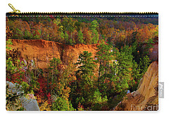 Fall Colors In The Canyon Carry-all Pouch by Barbara Bowen