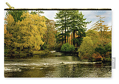 Carry-all Pouch featuring the photograph Fall Colour On The River Ness Islands by Jacqi Elmslie