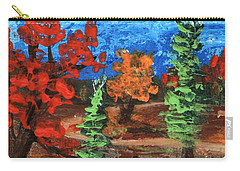 Carry-all Pouch featuring the painting Fall Colours #1 by Anastasiya Malakhova