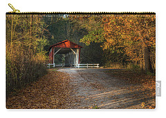 Carry-all Pouch featuring the photograph Fall Covered Bridge by Dale Kincaid