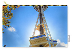 Fall Day At The Space Needle Carry-all Pouch by David Patterson